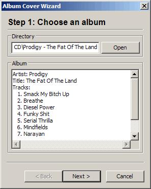 Album Track List Generator // homework prod